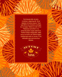 Autumn background. Vector illustration. Royalty Free Stock Image