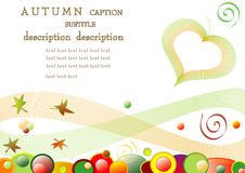 Autumn background. Vector template for theme environment of biological and ecological Royalty Free Stock Photography