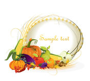 Autumn  background vegetable and fruits Royalty Free Stock Photos