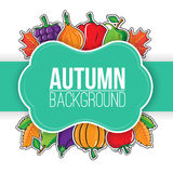 Autumn background with vegetables and fruits. Royalty Free Stock Images