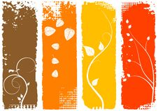 Autumn background, vertical banners - set Royalty Free Stock Photos