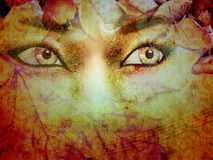 Autumn Background With Girl Royalty Free Stock Images