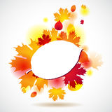 Autumn background with yellow leaves. Vector Royalty Free Stock Images
