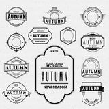 Autumn badges logos and labels for any use Royalty Free Stock Photography