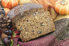 Autumn Banana Nut Bread Royalty-vrije Stock Foto's