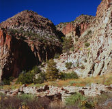 Autumn In Bandelier National Monument - New mexico Fotos de Stock Royalty Free