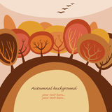 Autumn banner. With place for your text Royalty Free Stock Photo