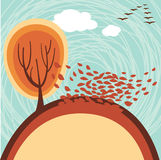 Autumn banner. Vector autumn banner with place for your text Royalty Free Stock Photography