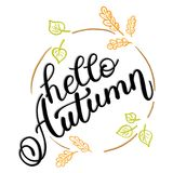 Autumn banner background with paper fall leaves. Royalty Free Stock Image