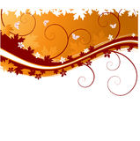 Autumn banner with butterflies Stock Photos