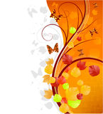 Autumn banner with butterflies. Image with copy space area Stock Photography