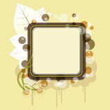 Autumn banner with cloud. An illustration of autumn banner with cloud, leaves and a place for your text Royalty Free Stock Image