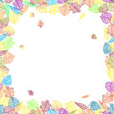 Autumn banner with colorful leaves. This image is a  illustration and can be scaled to any size without loss of resolution. This image will download as a .eps Royalty Free Stock Photos