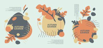 Free Autumn Banner Design For Web Or Seasonal Sale Promotions Royalty Free Stock Photos - 194038178