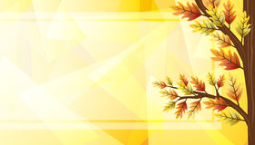 Autumn banner design with tree. Autumn banner illustration design with tree Stock Photo