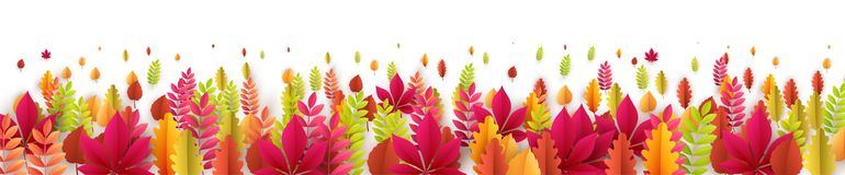 Autumn banner with fall leaves. Vector illustration. EPS10 royalty free illustration