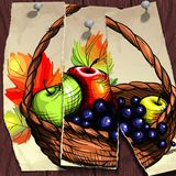 Autumn Banner. Fruit Basket. Vector illustration. Eps 10 Royalty Free Stock Images