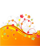 Autumn banner with leaves. Image with copy space area Royalty Free Stock Photography