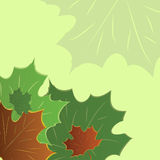 Autumn banner with maple leaves Stock Photo