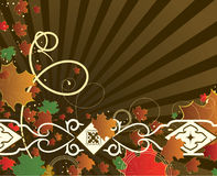 Autumn banner with maple leaves. Vector illustration royalty free illustration