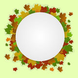 Autumn banner with maple leaves. Vector illustration stock illustration