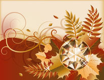 Autumn banner with precious gemstone Stock Photo