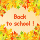 Autumn banner school Royalty Free Stock Image