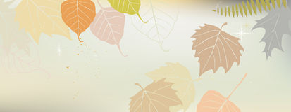 Autumn banner with a space for a text Stock Images