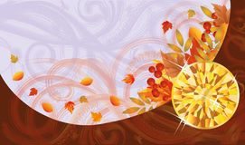 Autumn banner with topaz Stock Image