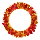 Autumn Banner With Leaves. Royalty Free Stock Images