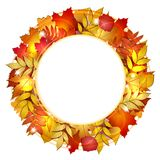 Autumn Banner With Leaves. Stock Image