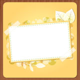 Autumn banner with wood Royalty Free Stock Photo
