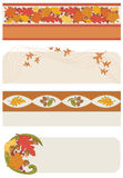 Autumn Banners. Vector art in Illustrator 8. Four banners in DIFFERENT STYLES for all your projects. All objects are complete images and can be separated and/or Stock Photos
