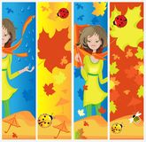 \autumn banners Stock Image