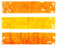 Autumn banners. Autumn yellow banners designed for websites Stock Image