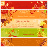 Autumn banners Stock Images