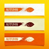 Autumn Banners stock illustratie