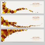 Autumn Banners Images stock
