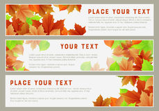 Autumn Banners Royaltyfri Illustrationer