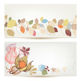 Autumn Banners Illustration Libre de Droits
