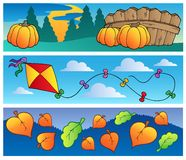 Autumn banners collection Stock Photos