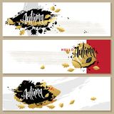 Autumn banners collection. Royalty Free Stock Photography