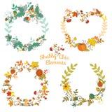 Autumn Banners ed etichette Fotografia Stock