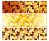 Autumn Banners géométrique avec des triangles illustration stock