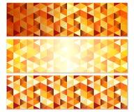Autumn Banners géométrique avec des triangles illustration libre de droits