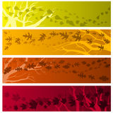 Autumn banners horizontal Royalty Free Stock Images