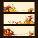 Autumn Banners with Ripe Vegetables, Fruit and Royalty Free Stock Photo