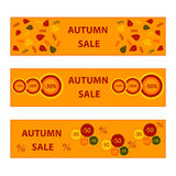 Autumn banners sale collection Royalty Free Stock Photography
