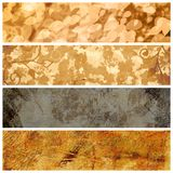 Autumn banners set. Set of four horizontal autumn banners Royalty Free Stock Image