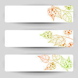 Autumn banners. Three vector banners with autumn sprigs royalty free stock photos